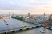 Fantastic cityscape, view from London Eye — Foto de Stock