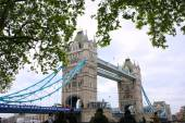 Tourists enjoying view of Tower Bridge, London — Stockfoto