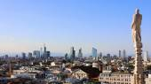 Panoramic view of Milan from Duomo — Stock Photo
