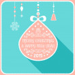 Christmas card ornament decoration background with christmas ball. Vector illustration Eps 10. Happy new year message, Happy holidays wish. — Stock Vector #57381305