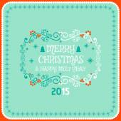 Christmas card ornament decoration background. Vector illustration Eps 10. Happy new year message, Happy holidays wish. — Stock Vector