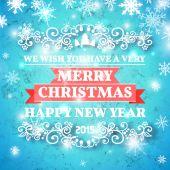Fond de carte de Noël ornement décoration. Illustration vectorielle Eps 10. Message de bonne année, lettrage — Vecteur