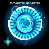 Futuristic interface infographics — Stock Vector