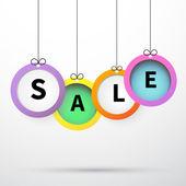 Sale bright poster — Stock Vector