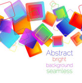 Colorful Square seamless background — Stock Vector
