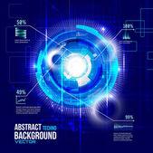 Futuristic interface background — Stock Vector