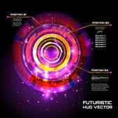 Sci fi Futuristic user interface — Stock Vector