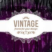 Vintage frame with wood texture — Vecteur