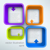 Abstract 3d vector illustration with place for text — ストックベクタ