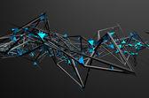 Abstrakt 3d-Rendering av kaotisk struktur. — Stockfoto