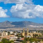 View over Turkish side Northern Nicosia — Stock Photo #76758371