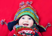 Baby in a winter hat — Stock Photo