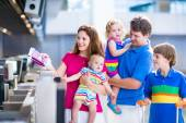 Family at the airport — Stock Photo