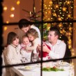 Family at Christmas dinner — Stock Photo #53996111