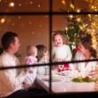 Family at Christmas dinner — Stock Photo #53996185