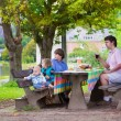 Father and kids at picnic — Stock Photo #53996199