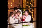 Family at Christmas dinner — Photo