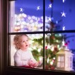 Girl at Christmas eve — Stock Photo #54504593