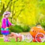 Little girl playing Cinderella — Stock Photo #54504735