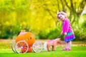 Little girl playing Cinderella — Stock Photo