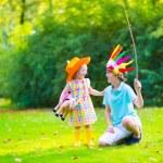 Kids playing cowboy — Stock Photo #55276967