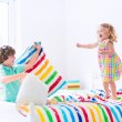 Kids having pillow fight — Stock Photo #55277013
