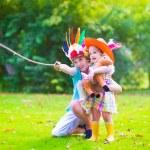 Kids playing cowboy — Foto Stock #55277027