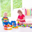 Children playing with toy cars — Stock Photo #55896131