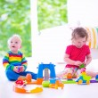 Children playing with toy cars — Stock Photo #55896215