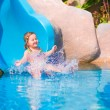Child on water slide — Stock Photo #56943105