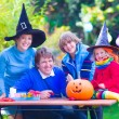 Family on Halloween — Stock Photo #56943157