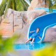 Child on water slide — Stock Photo #56943539
