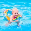 Little boy in swimming pool — Stock Photo #58162683