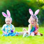 Children at Easter egg hunt — Stock Photo #62199815
