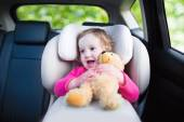 Little girl in car seat — Stock Photo