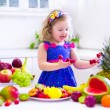Little girl eating water melon — Stock Photo #65820141