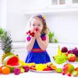 Little girl eating water melon — Stock Photo #65822873