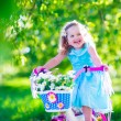 Little girl riding a bike — Stock Photo #73391149