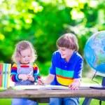 Kids in school yard — Stock Photo #73391377
