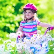 Little girl riding a bike — Stock Photo #73951483