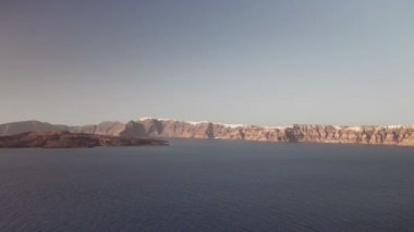 The island of Santorini, Greece, Caldera — Stock Video
