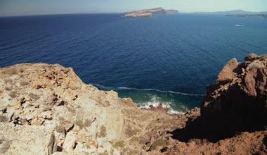 The island of Santorini, Greece, Caldera — Vídeo de stock