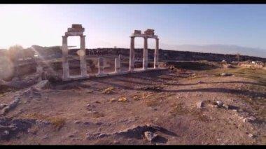 Hierapolis theater, Pamukkale, Denizli. — Stock Video