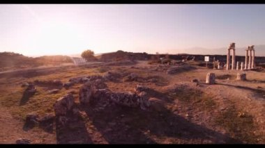 Hierapolis theater, Pamukkale, Denizli. TURKEY — Stock Video