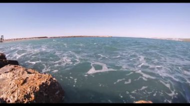 The waves of the Mediterranean Sea — Stock Video