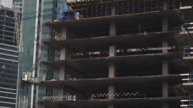 Skyscrapers under construction — Stock Video
