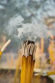 Smoldering incense sticks — Stock Photo