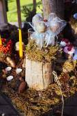 Wedding decor decorations for weddings forest. — Stock Photo