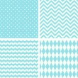 Set of four seamless backgrounds — Stock Vector #70128413
