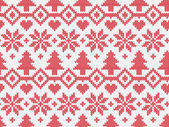 Knitted seamless pattern — Stock Vector